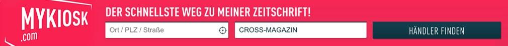 Grafik MyKiosk, der schnellste Weg zu deinem CROSS Magazin im Zeitschriftenhandel