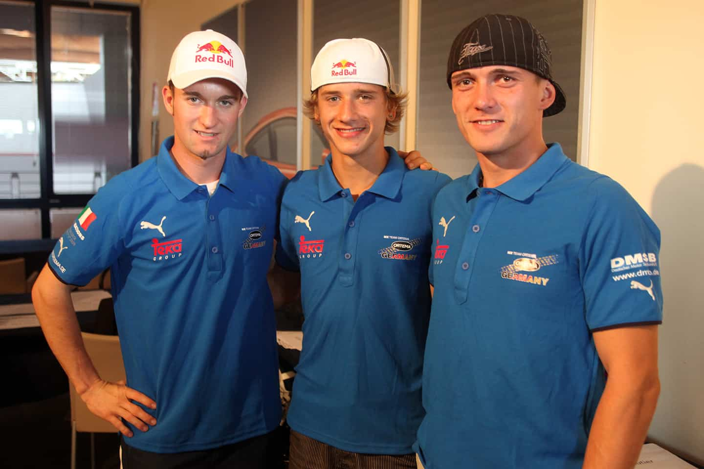 Motocross der Nationen 2009 in Franciacorta - Team Germany mit Maximilian Nagl, Ken Roczen und Daniel Siegl