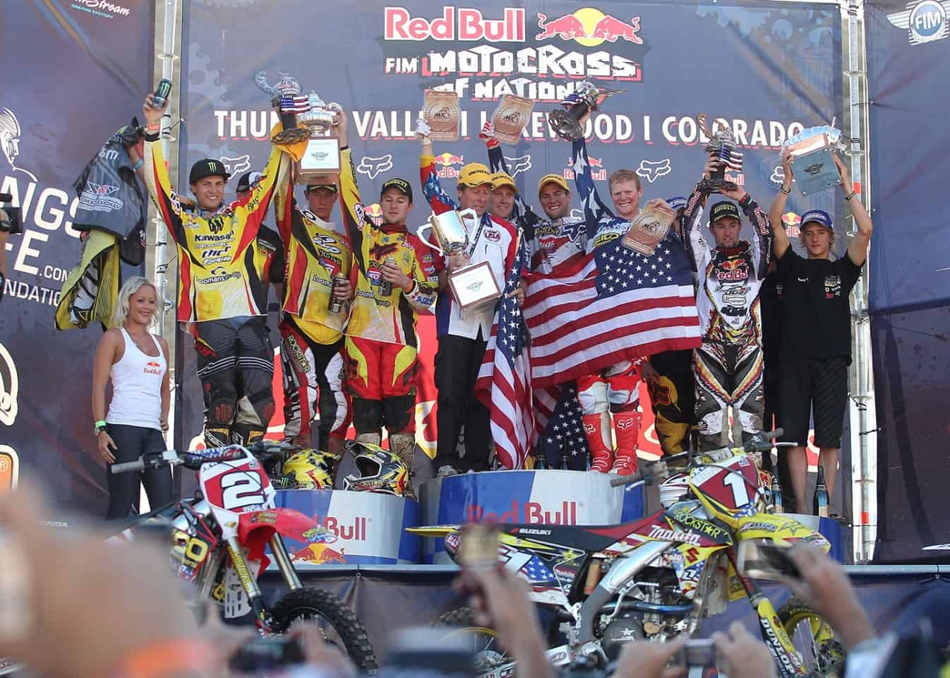 Motocoss of Nations 2010 in Lakewood, Colorado - Siegerehrung