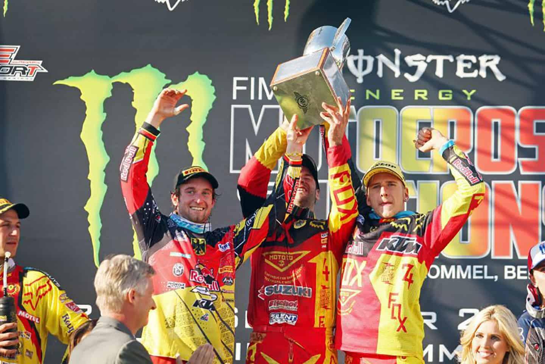 MXoN 2012 Lommel - Moment des Triumphs