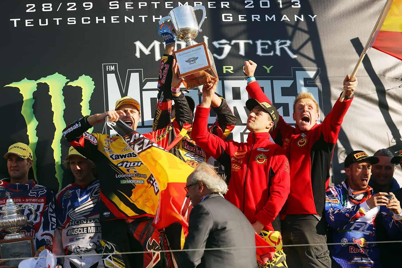 MXoN 2013 in Teutschenthal - Manschaftsweltmeister Team Belgien
