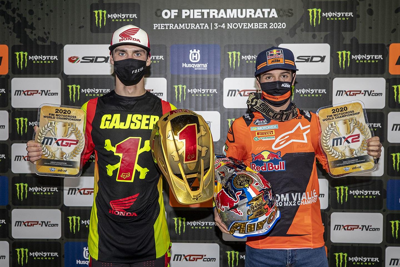 FIM Motocross-Weltmeisterschaft 2020 in Pietramurata 3 - Vorschau - Tim Gajser und Tom Vialle