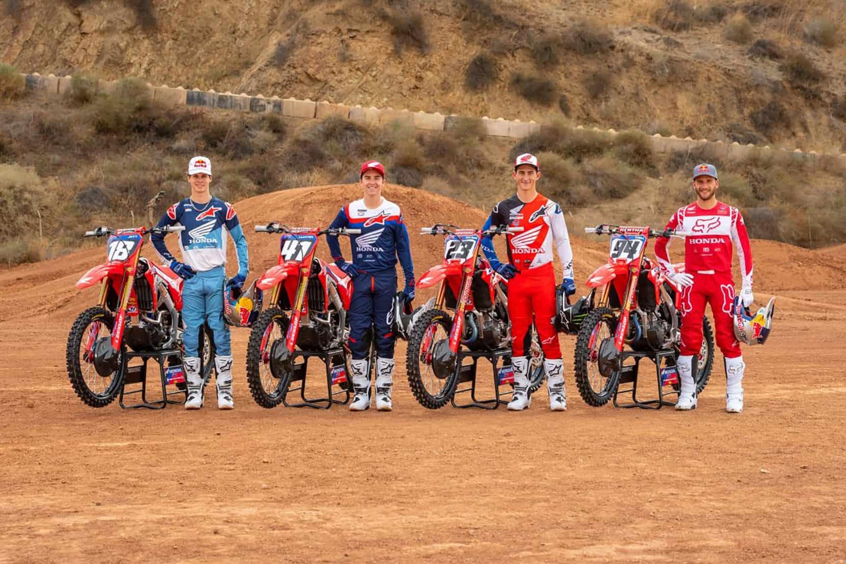 Die Honda-Werksmannschaft für das US-Supercross 2021