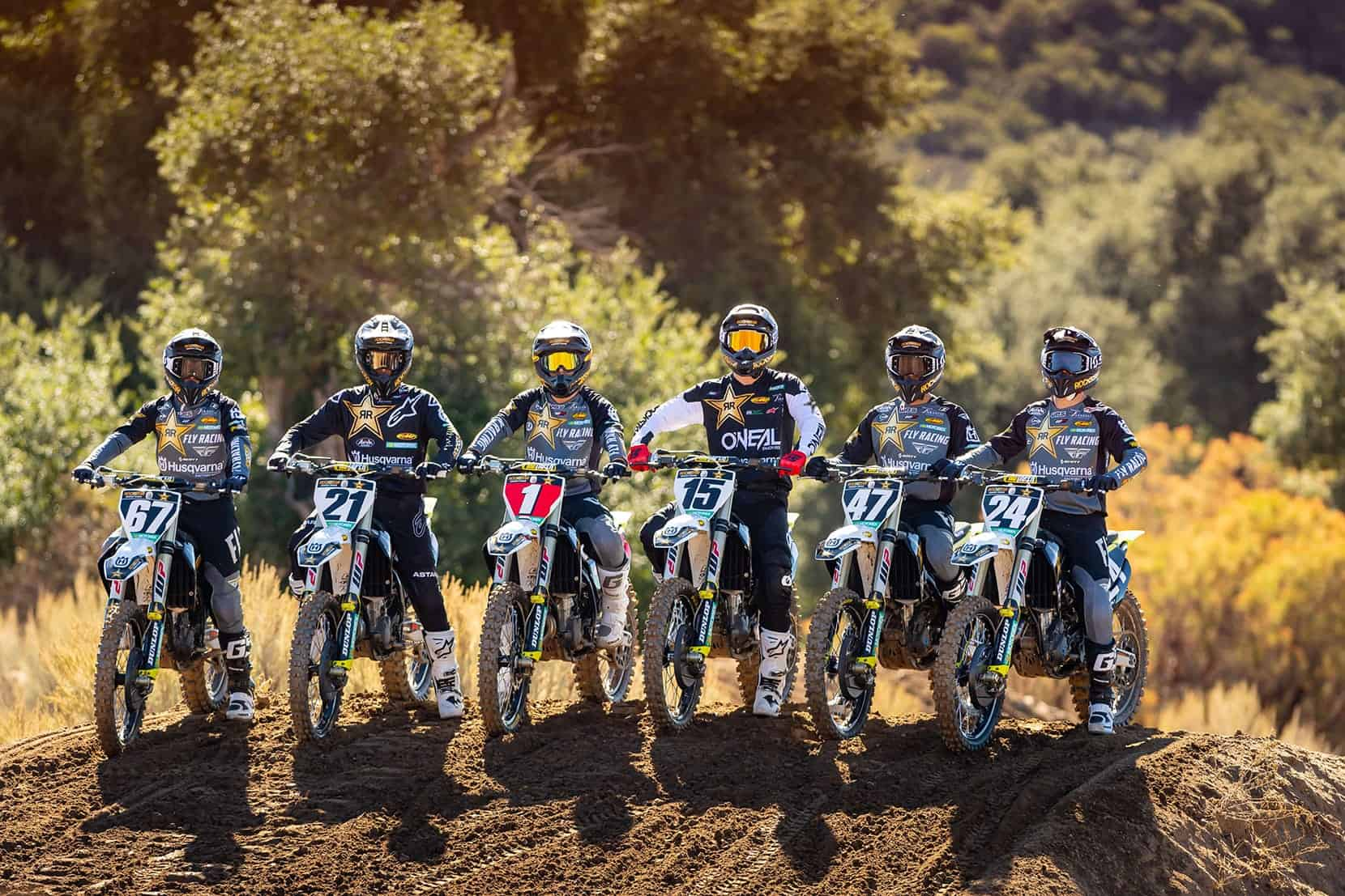 Die Husqvarna-Werksmannschaft fürs US-Supercross 2021