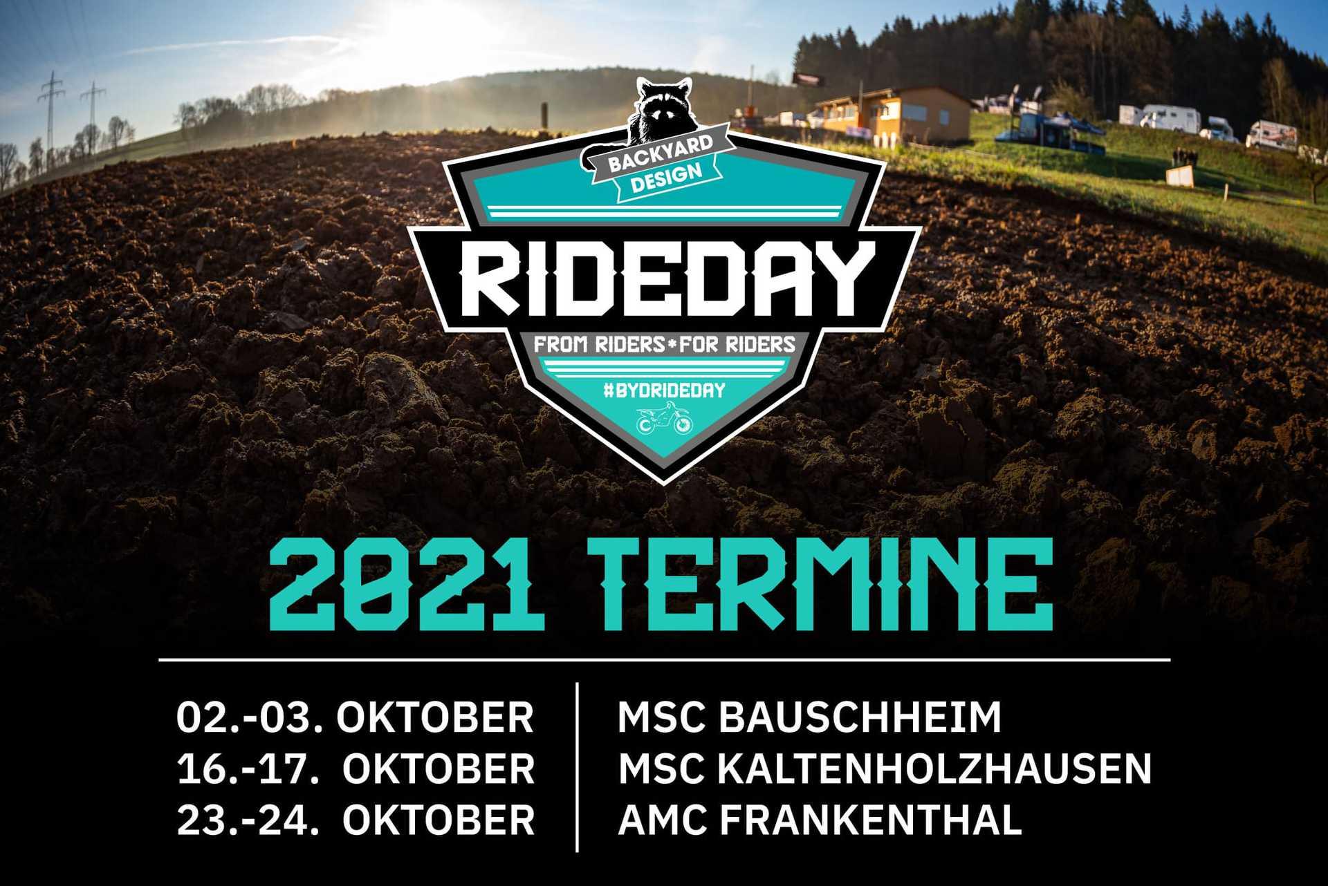 Noch 3 Backyard Design Rideday's in 2021 – Jetzt anmelden!