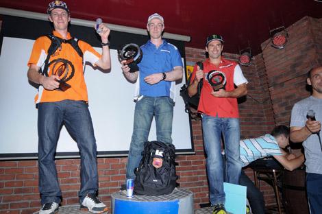 Verdienter Lohn: Platz drei für Letti (rechts) in der Gesamtwertung