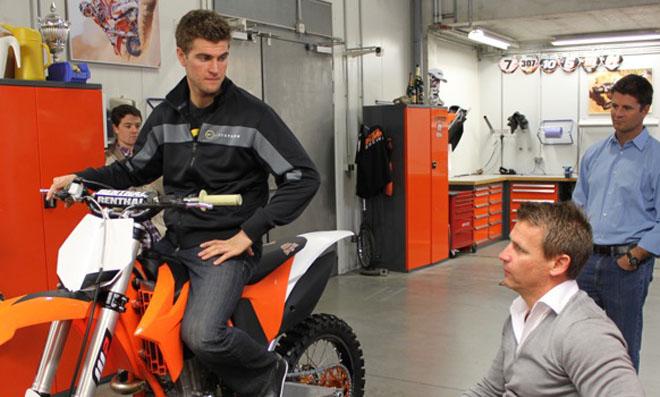 Dungeys Antrittsbesuch bei KTM