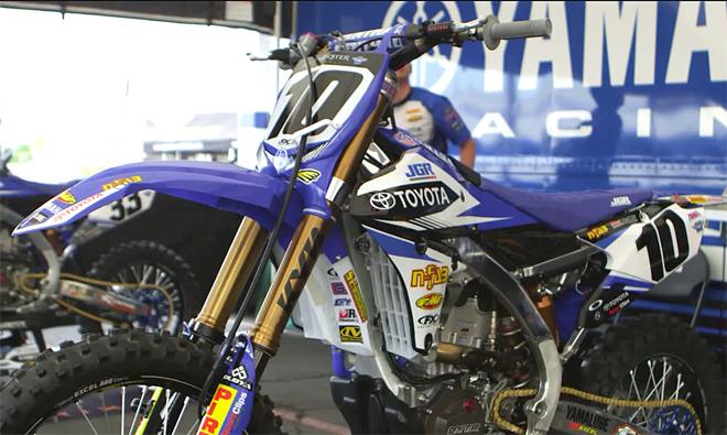Justin Braytons Yamaha YZ450F