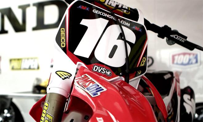 Zach Osbornes Honda CRF250